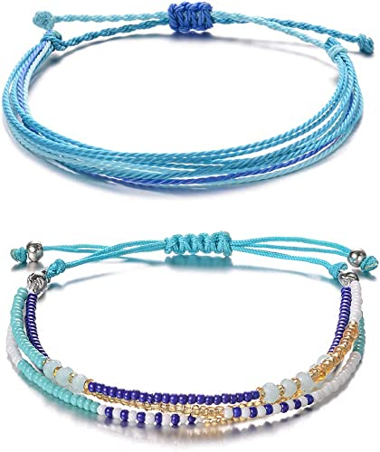 Fashion Women 3//set Bracelet Woven Beads Boho Friendship Hand Chain Jewelry Gift