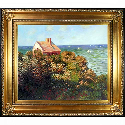 overstockArt Fishermans Cottage at Varengeville Hand Painted Oil Canvas Art by Monet, 20 by 24-Inch, Regency Gold Frame