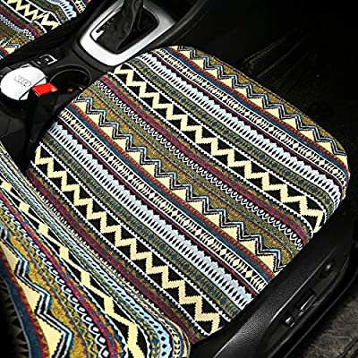AUTOJING Bohemain Style Seat Covers for Car Front Seats,Universal Size Fit for Cars SUV Trucks(FR-02): Automotive