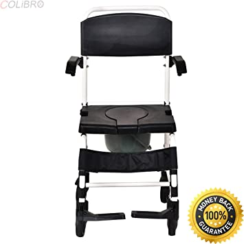 Amazon.com: COLIBROX--Bathroom Shower Toilet Commode Wheelchair w ...