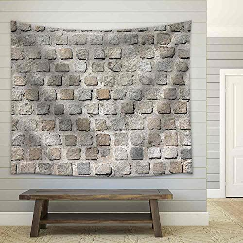 Cobblestone Road Background Pattern Fabric Wall