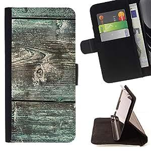ForSamsung Galaxy S3 MINI i8190 (NOT S3) Case , Líneas patrón de grano verde musgo- la tarjeta de Crédito Slots PU Funda de cuero Monedero caso cubierta de piel