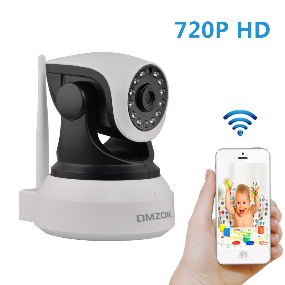 DMZOK 720P WiFi Security Camera IP Camera Night Vision Two Way Audio Remote View On Mobile App Video Baby Monitor Pet Camera
