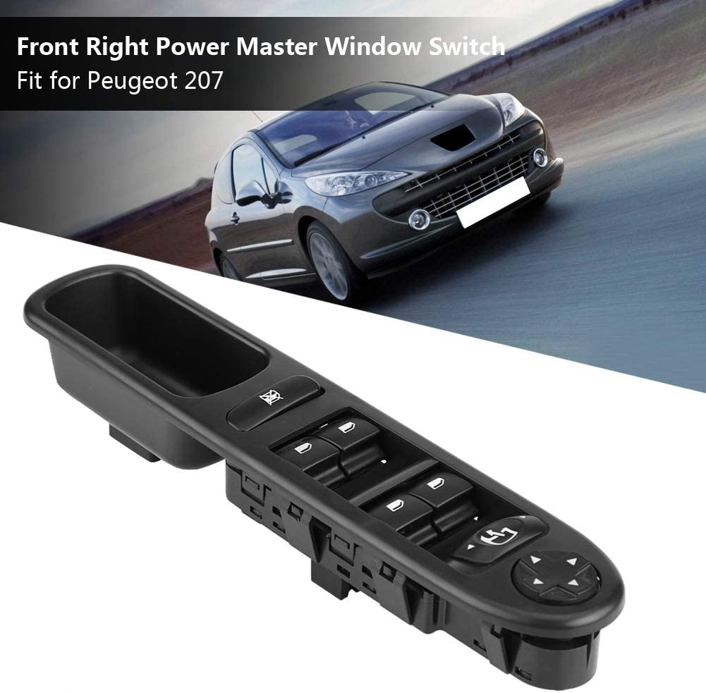 Driver Side Car ABS Switch Panel Control Button Window Lifting for Peugeot 207