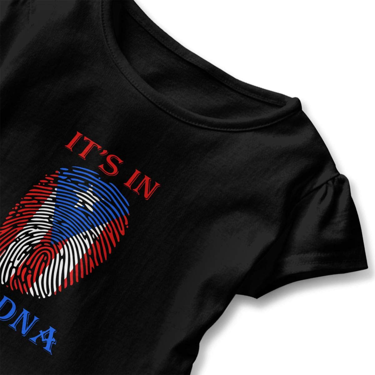 Puerto Rico Its in DNA Shirt Puerto Rico DNA Toddler Girls T Shirt Kids Cotton Short Sleeve Ruffle Tee