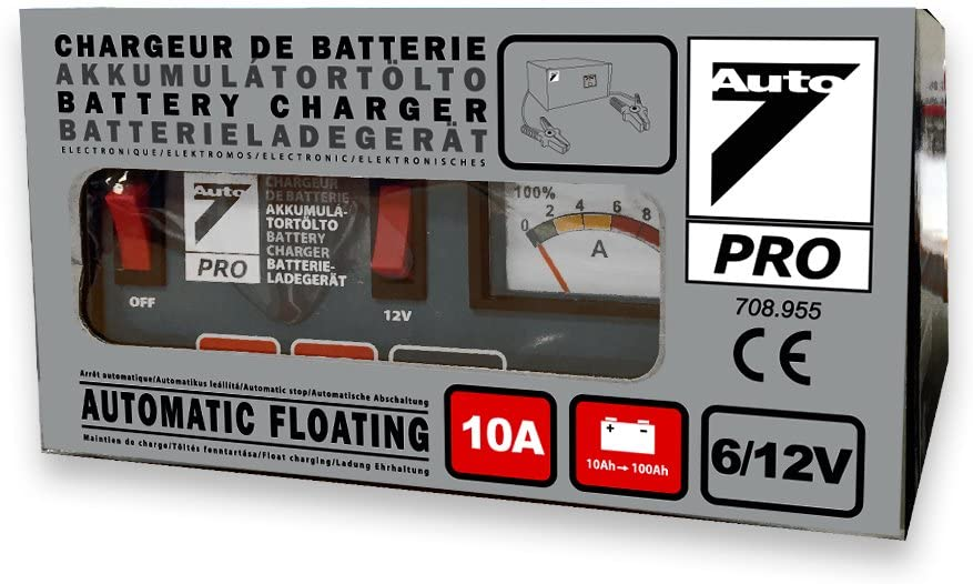 Auto7/Caricatore di batteria 708.955 per batterie da 10/Ah a 100/Ah 100/% automatico 10/A 6//12/V