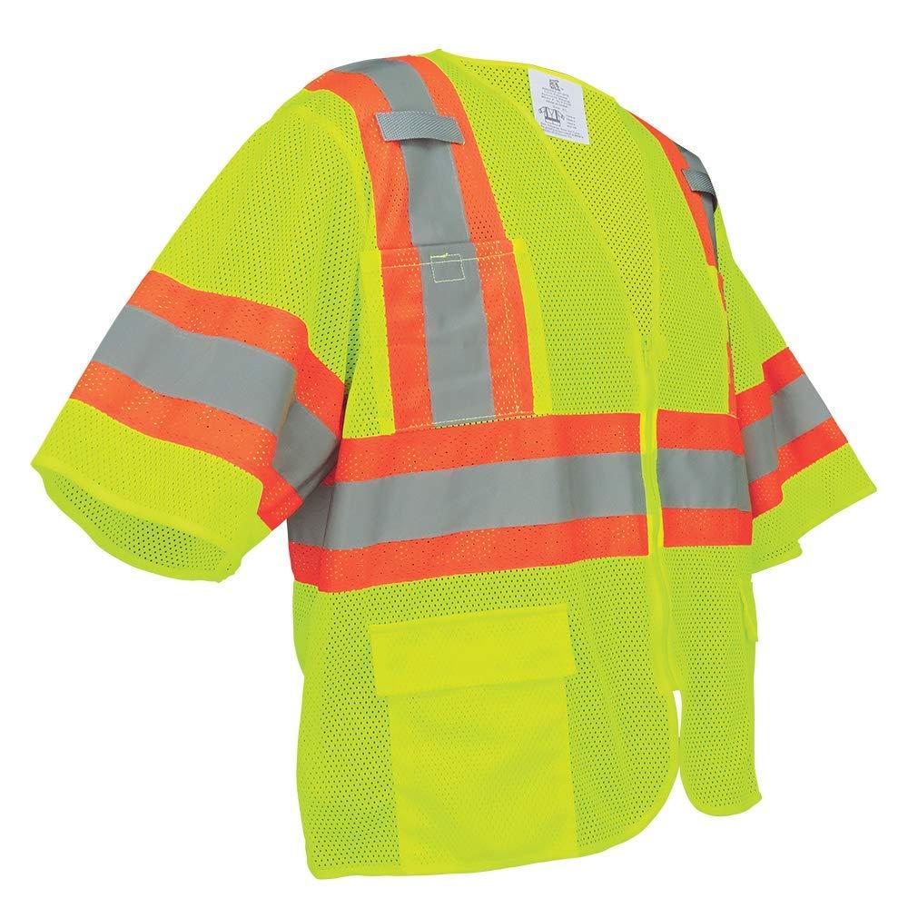 High-Visibility Mesh Polyester Surveyors Safety Vest Medium Global Glove /& Safety Manufacturing GLO-0135-M FrogWear HV GLO-0135