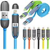 High Speed M2M Universal Micro USB + Apple Charging & Data Transfer Cable for Android / Apple / Windows series Mobile phones, Tablets, MP3 Players-MM-DCB-040-MULTI