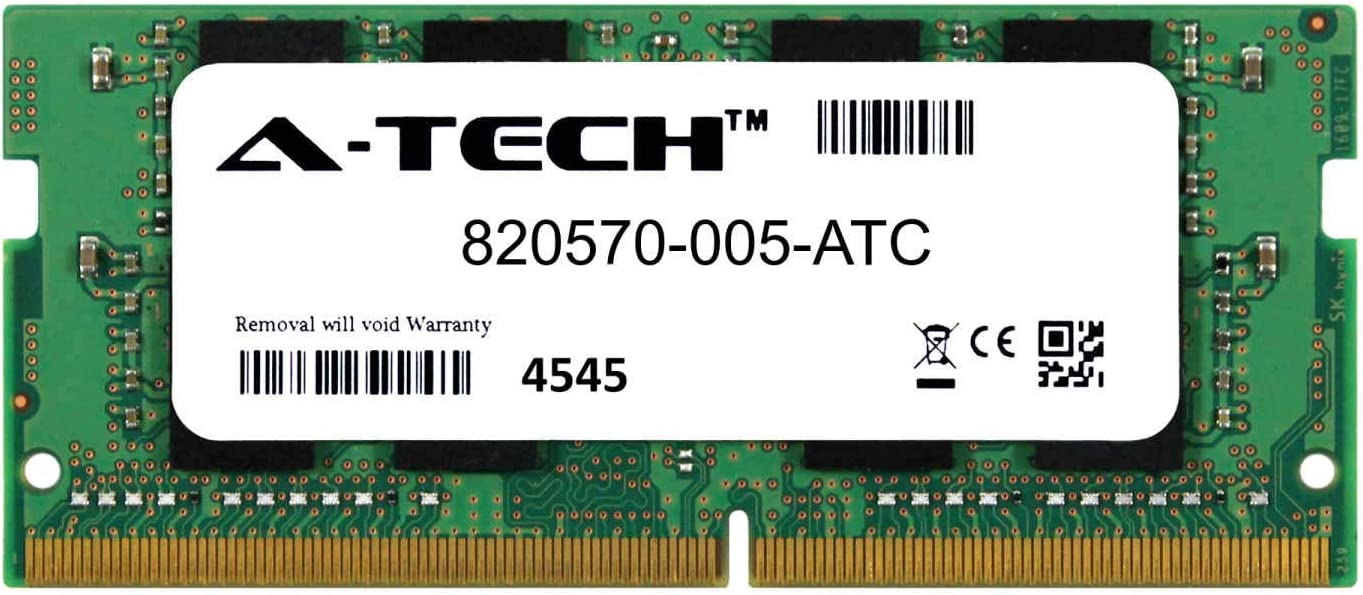A-Tech 8GB Replacement for HP 820570-005 - DDR4 2133MHz PC4-17000 Non ECC SO-DIMM 2rx8 1.2v - Single Laptop & Notebook Memory Ram Stick (820570-005-ATC)