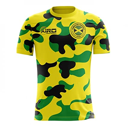 b93a0f8c309 Amazon.com   Airo Sportswear 2018-2019 Jamaica Home Concept Football Soccer  T-Shirt Jersey   Sports   Outdoors