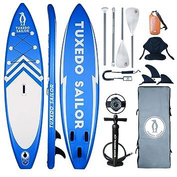 TS inflable 11 × 32 pulgadas × 6 pulgadas SUP con kayak Kit de ...