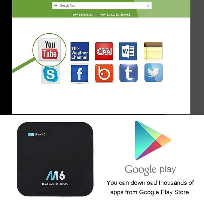 TV Box Android 7.1 - VIDEN Smart TV Box Amlogic S905X Quad Core, 1GB RAM & 8GB ROM, 4K*2K UHD H.265, HDMI, USB*2, 2.4GHz WiFi, Web TV Box, Android ...