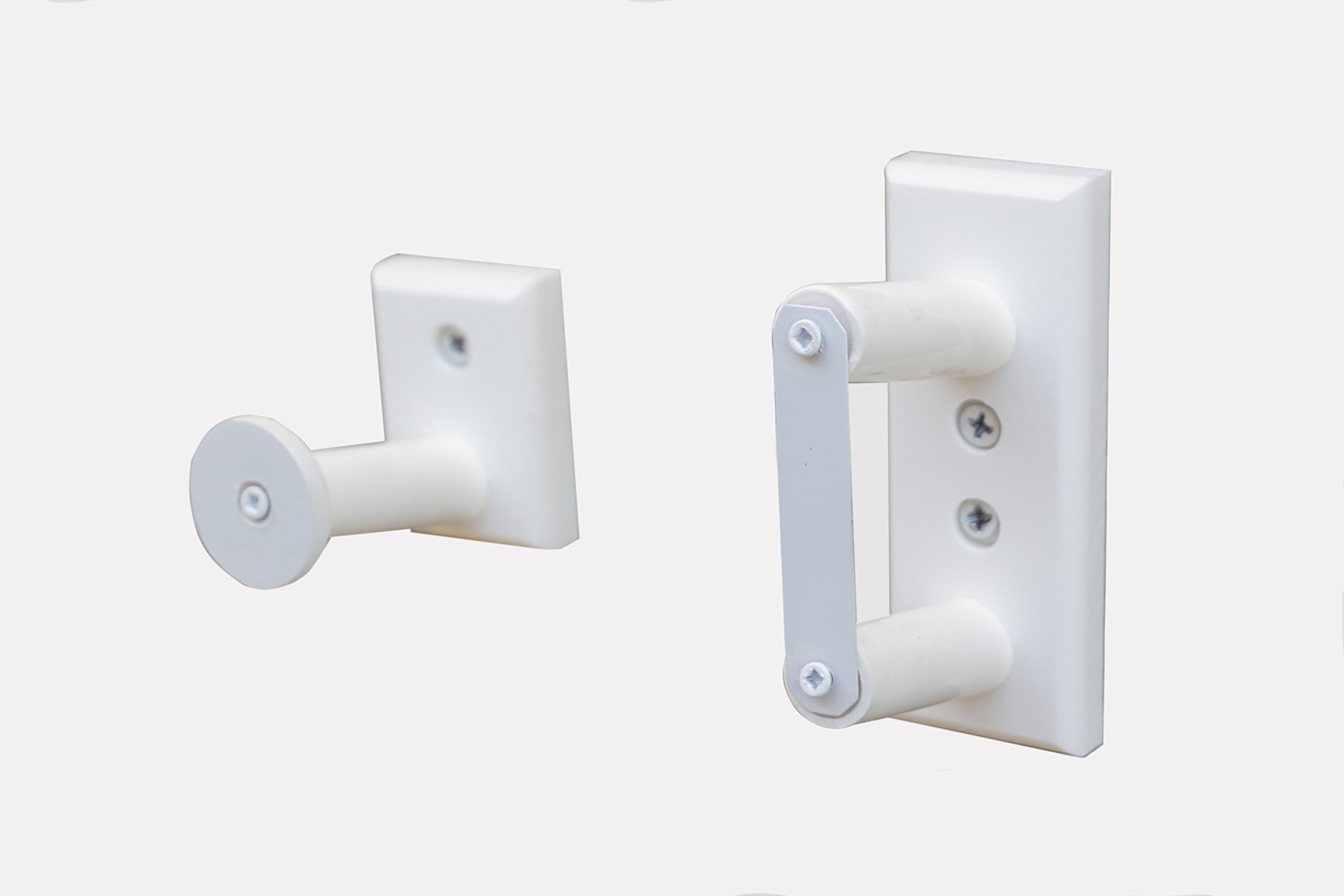 Standard Horizontal Wall Mount For a .22 Rifle With A Security Bracket (Made in the USA) (White)