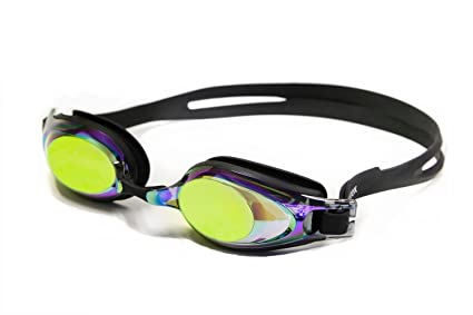 a73ecba48d Adoretex Optical Prescription Swim Goggles with Case - Rainbow Mirrored -  Negative 1.5
