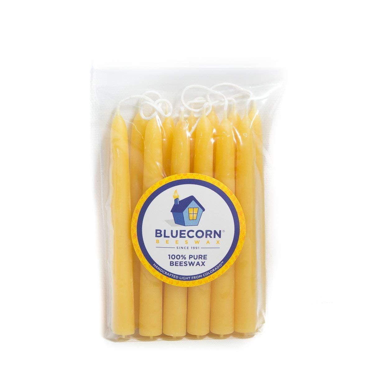 Bluecorn Naturals 100/% Pure Beeswax Ceremony and Vigil Candles Ivory