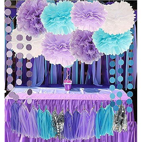 Mermaid Baby Shower Decorations Amazon Com