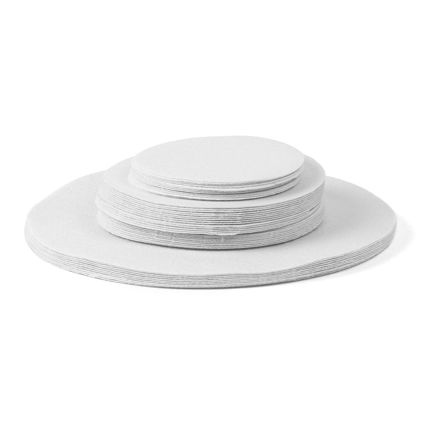 Soft White Felt Plate Dividers 12-10'', 24-6'', 12-4.5'' (Set of 48) by Richards Homewares