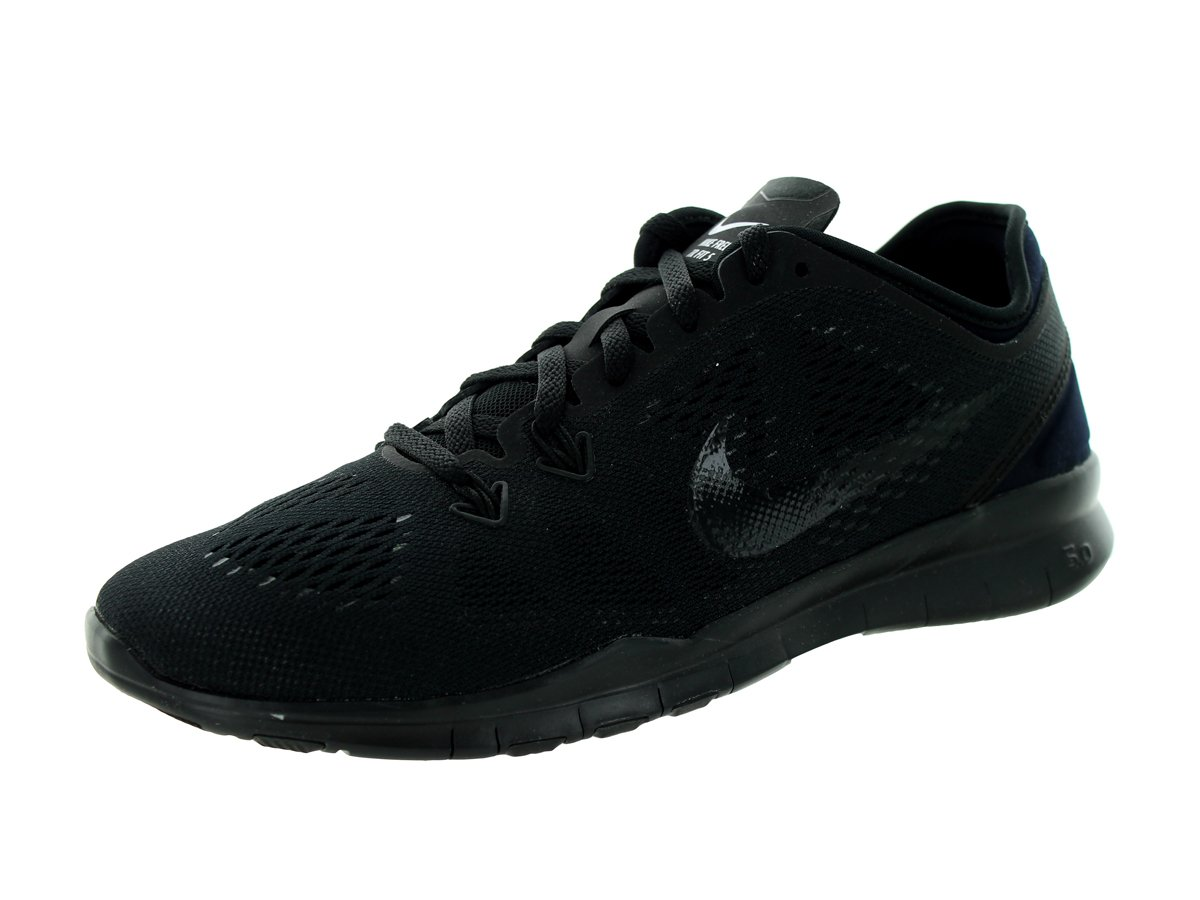 NIKE Women's Free 5.0 TR Fit 5 Training Shoe B00K32H2HE 10 B(M) US|Black/Black/Black