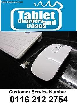 Blanco teclado inalámbrico + teclado numérico y ratón para ...