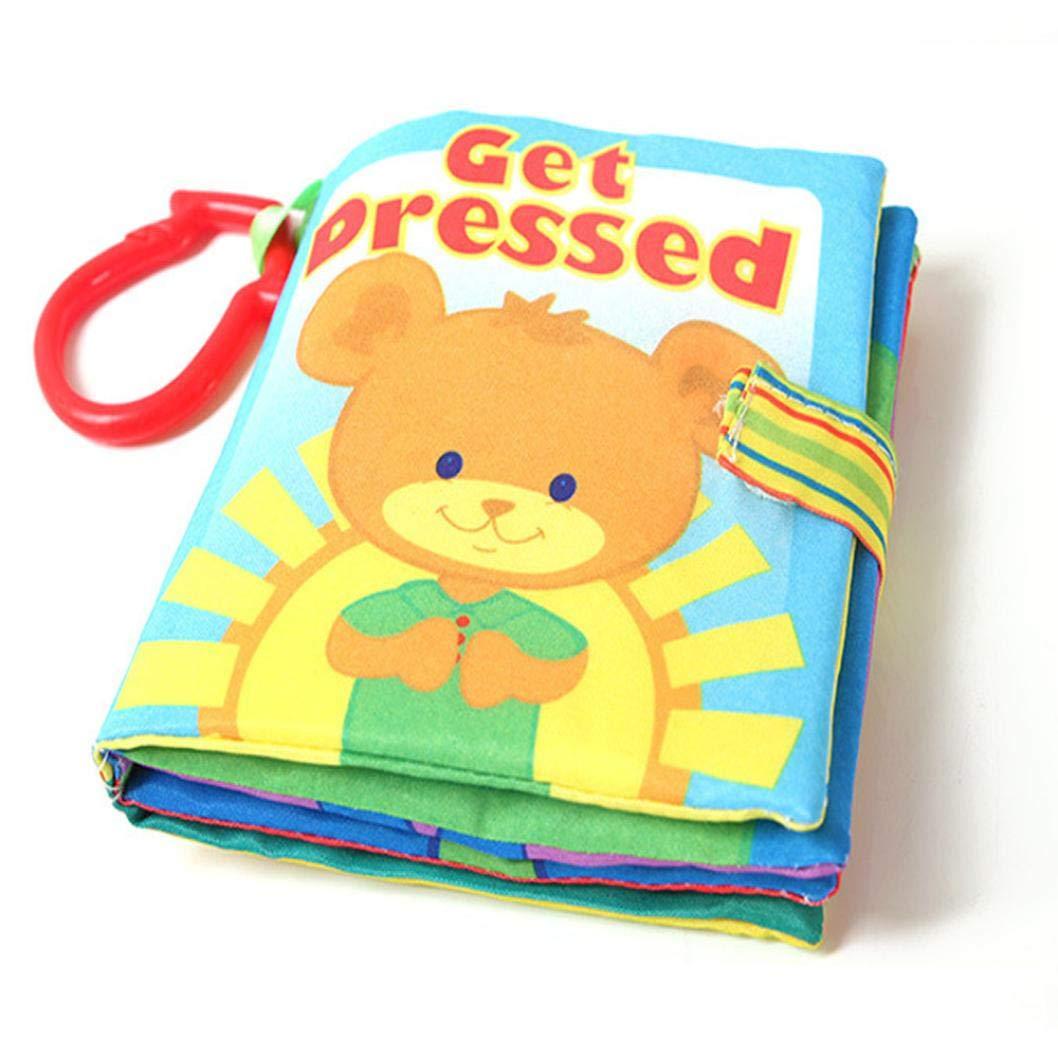 Livre en Tissu de B/éb/é Jouets /éducatifs pour Enfants D/éveloppement de lintelligence Rameng