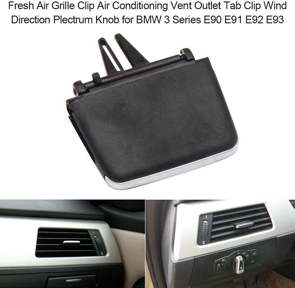 Frischluft-K/ühlergrill-Clip Klimaanlage Entl/üftungs/öffnung Tab Clip Windrichtung Plektrum-Knopf f/ür BMW 3er E90 E91 E92 E93