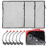 XSTRAP Super Duty Cargo Net for Truck Bed | 6 Adjustable Ball Rope to Fixed The Net (4.5'x6.5')