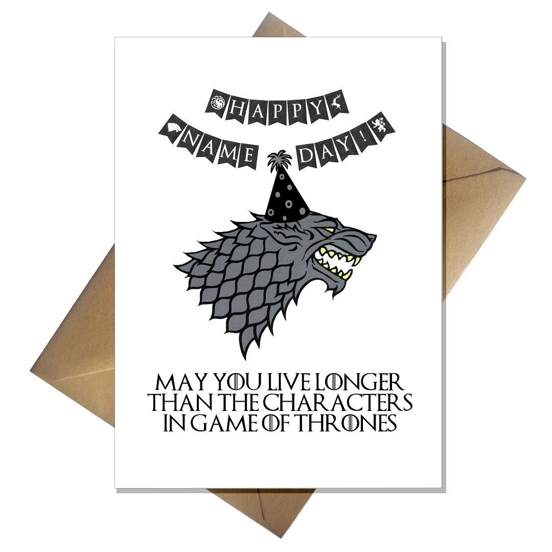 Funny Game Of Thrones Birthday Card
