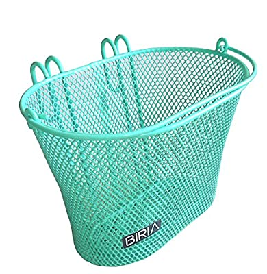 Basket with hooks Green, Front , Removable, Children wire mesh SMALL Bicycle basket, NEW, Green