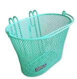 Biria Basket with hooks Green, Front, Removable, Children wire mesh SMALL kids Bicycle basket, NEW, Green by
