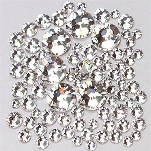 1440pcs Austria Crystal Clear 1.2mm-3.2mm Cut Round Rhinestones for Choose 3d Nail Art Decoration