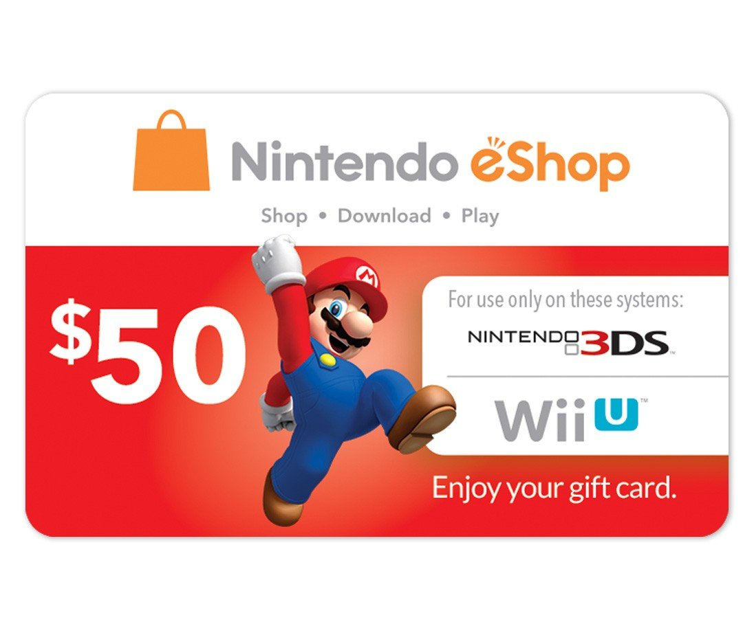 Amazon.com: Nintendo Eshop Prepaid Card $50 for 3ds or Wii U by ...