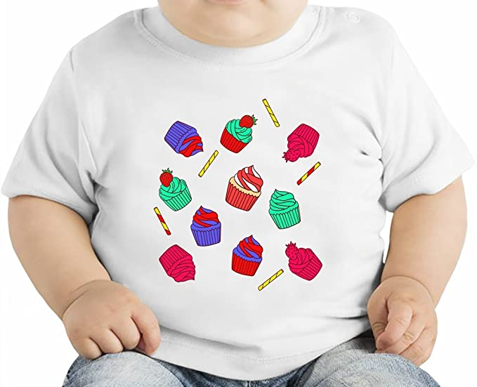 Colourful Cupcakes Camiseta orgánica bebés 12 - 18 Months