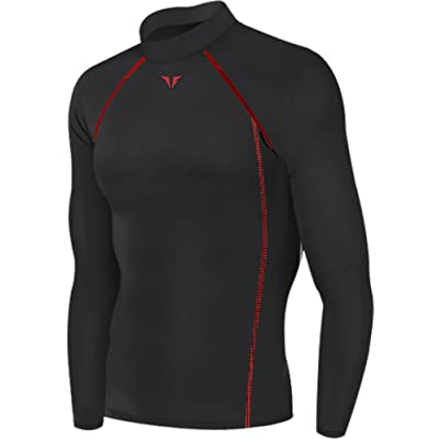 New 199 Black Skin Tights Compression Base Layer Running Long Sleeve Top Mens