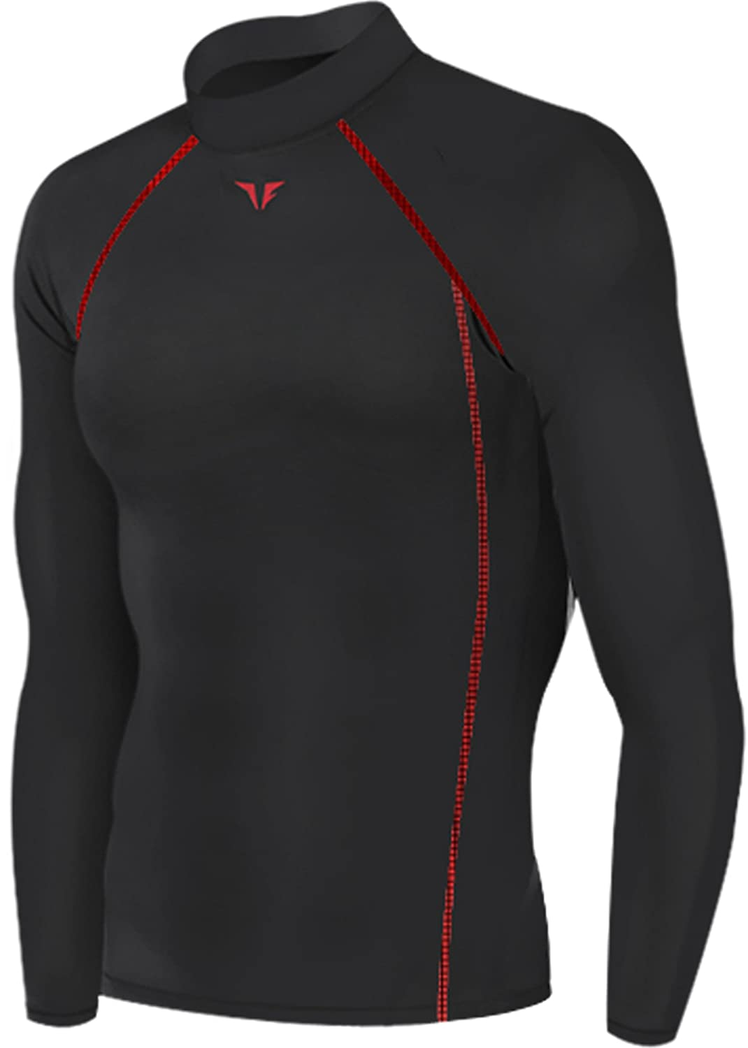 New 199 Black Skin Tights Compression Base Layer Running Long Sleeve Top Mens JustOneStyle