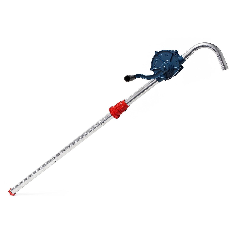 Pompe à Manivelle - Pompe Vide-fût pour Diesel ou Fuel jusqu'à 22l/min avec Raccord pour fût G2 WilTec