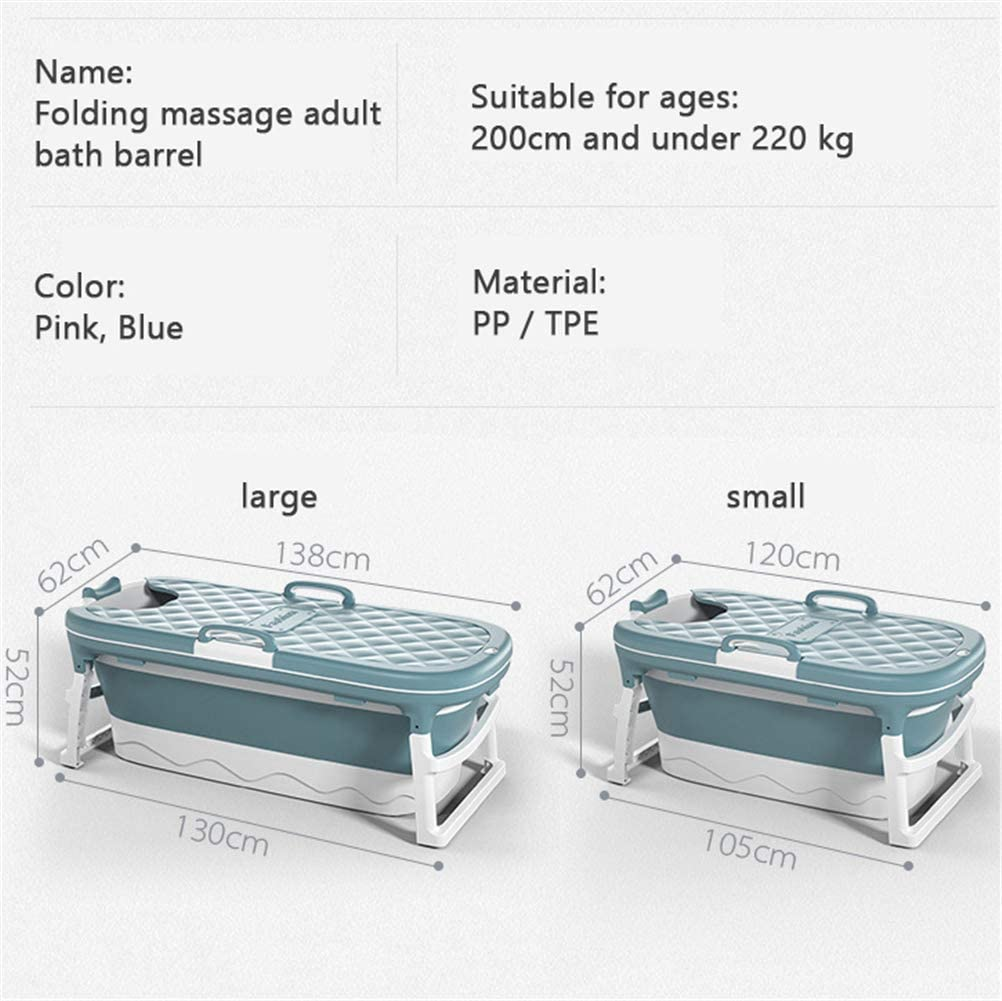 YOCAPE Pliable Bain Baignoire Plastique Portable Baignoire Isolation Baril avec Couvercle /Épais Spa Accueil Sauna Douche Seau pour Enfant//Adulte Utilisation 138//120cm