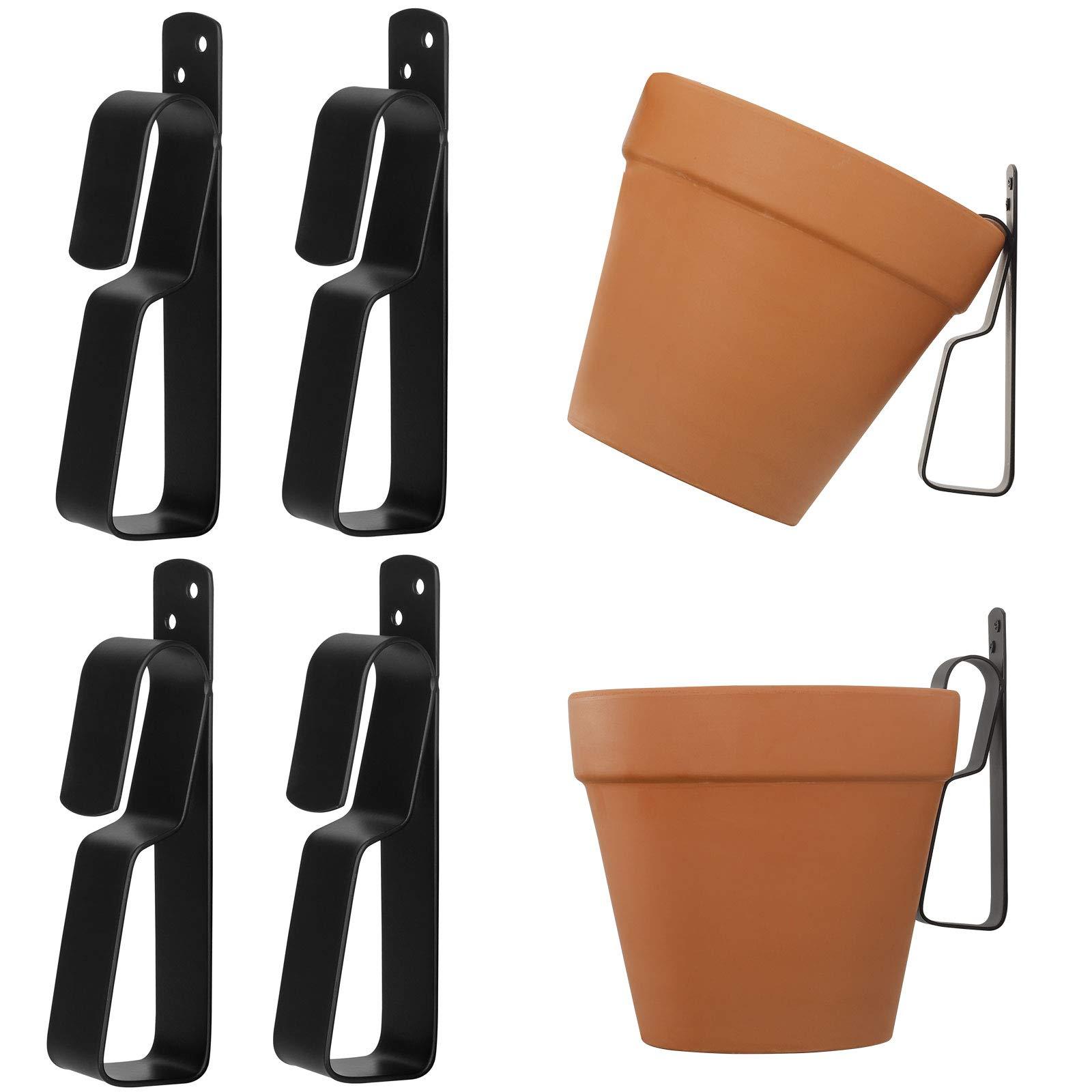 Terracotta Pots Hangers,ChasBete Wall Plant Hanger Hook for 10cm to 23cm Terracotta Pot, Stainless Steel Plant Hangers Indoor/Outdoor,4 Pack