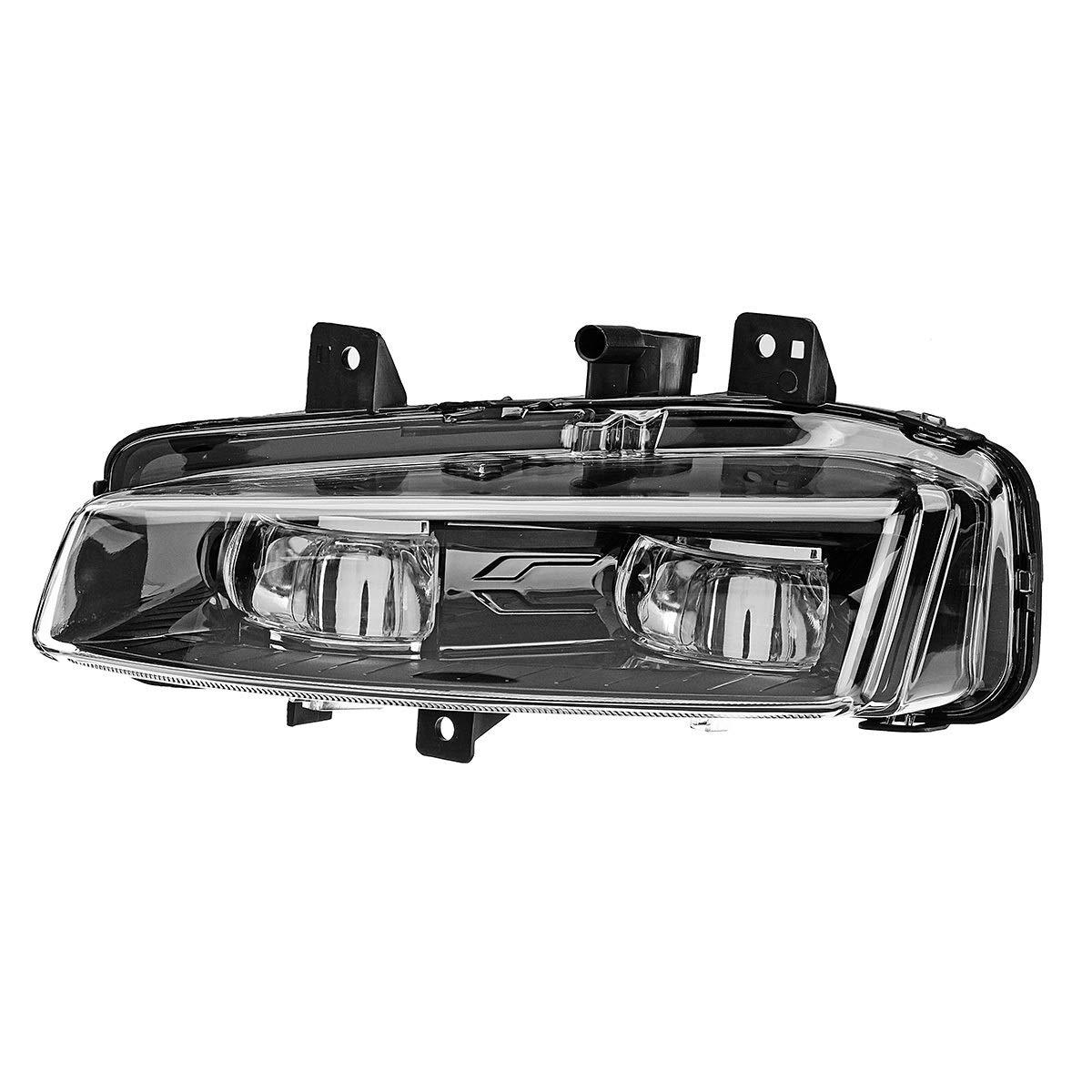 Color : Right WCHAOEN Car LED Front Bumper Fog Lights White Lamp for Range Rover Evoque Dynamic 2011-2016 New car light