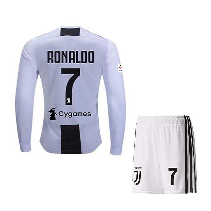 49f6744e7 Ronaldo  7 Print Juventus Jersey Juventus Full Sleeves Master Quality  Football Jersey with