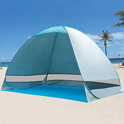 DN_HOM Awesome and Durable Pop Up Beach Tent Sun Shade Shelter Outdoor Camping Automatic Canopy 2-3 Person: Sports & Outdoors