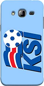 ColorKing Football Iceland 04 Blue shell case cover for Samsung On7
