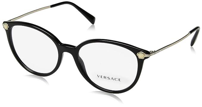 4b78ef2d62e Amazon.com  Eyeglasses Versace VE 3251 B GB1 BLACK  Clothing
