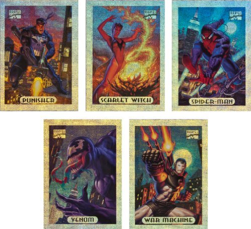 Holofoil Card Set (1994 Fleer Marvel Masterpieces Series-3 New Complete 10-Card Silver Holofoil Set)
