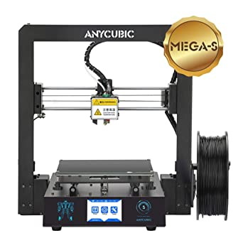 ANYCUBIC Mega S Impresora 3D Tamaño de impresión 210 x 210 x 205 mm Con Ultrabase calefactada Pantalla táctil de 3.5