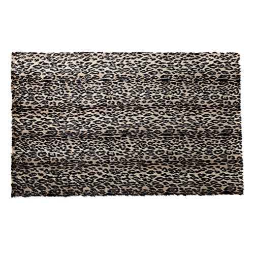 RugMall Rectangle Faux Fur Shaggy Rug 20 by 31 Inch Leopard
