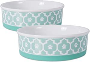 Bone Dry Lattice Collection Pet Bowl & Canister