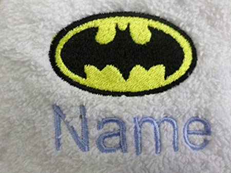 100Percent/_Cotone Grigio 27x33x6.3 cm Warner Bros Batman Accappatoio