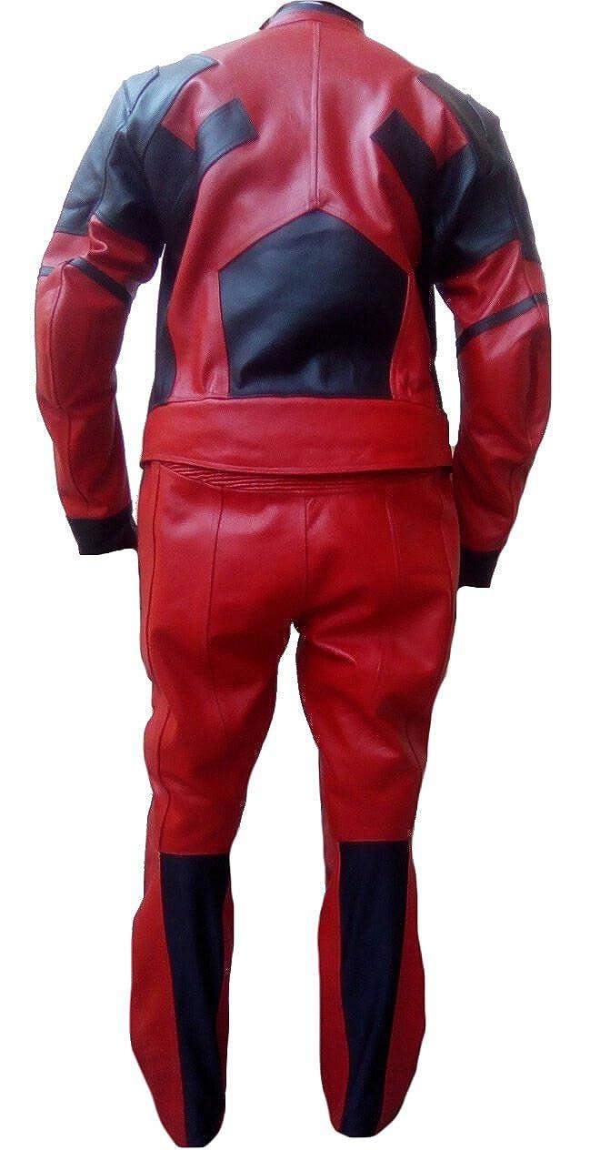 Amazon.com: Classyak traje de moda moto Deadpool de piel ...