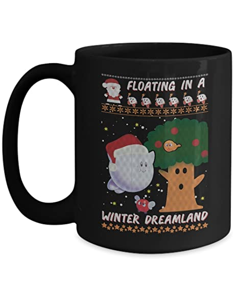 Amazon Com Floating In A Winter Dreamland Funny Black Coffee Mug 11
