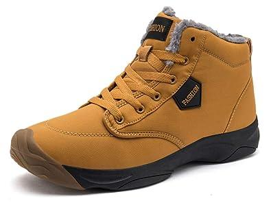 Eagsouni Schneestiefel für Herren und Damen, warme Stiefeletten mit Fell  gefütterte Sneaker Anti-Rutsch 9fd128b053